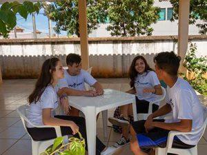 Área de convivência para os alunos
