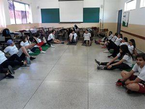 Espaço para aulas de ginástica